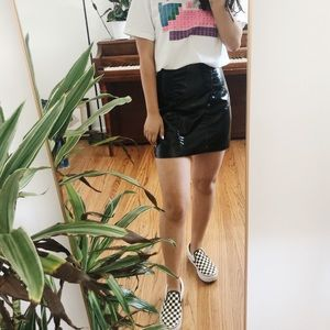 NWT patent leather skirt